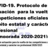 Protocolo de actuación para la vuelta de competiciones oficiales